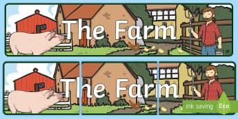 The Farm Aistear Banner - Aistear, ROI, English, Banner, The Farm, farmyard, farming, Irish