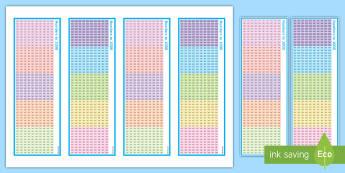 Numbers to 1000 Bookmarks  - Numbers to 1000 - numbers to 1000, numbers, 1000, 1 000, number squares, year 3, y3, ks2, lks2, coun