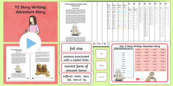 Y2 Story Writing: Adventure Example Text - Example Texts Y2, Story Writing, Adventure, Story, WAGOLL, exemplar, fiction, text, text features, S