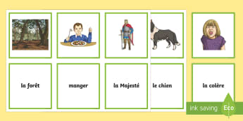 Le Loup et l'Agneau Matching Cards - KS2, French, Fables, Jean De La Fontaine, The Wolf and the Lamb, Snap Cards, Matching Cards,French