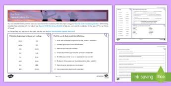Free Time Activities Activity Mat - GCSE, topics, activity,mat, free, time, activities, vocabulary, KS4, Spanish
