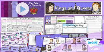 PlanIt - History KS1 - Kings and Queens Unit Pack Flipchart