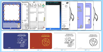 Space Themed Writing Activity Pack - write, writing aid, literacy