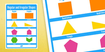 Regular and Irregular Shapes 2D Large Display Poster - regular, irregular, shapes, 2d, posters, display