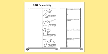 2017 Flap Activity - 2017, flap activity, flap, activity, new year, year, new
