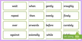 Stage 2 Procedure Language Word Cards - Literacy, english, procedure, writing, language, description, word cards, display cards, Australian