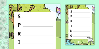 Spring Acrostic Poem - acrostic poems, acrostic poem, spring, seasons, spring acrostic poetry, spring poems, spring writing frame, spring writing activity, acrostic, poem, poetry, literacy, writing activity, activity