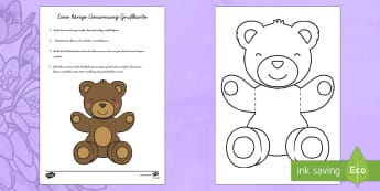 Eine bärige Umarmung Grußkarte - Eine bärige Umarmung, Grußkarte, Umarmung, Karte, Glückwunschkarte, Muttertag, Vatertag, Geburtst