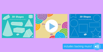 Shape, Measure and Patterns Songs and Rhymes PowerPoints Pack - shape, measure, pattern, EYFS, 2D, circle, semi-circle, triangle, square, rectangle, pentagon, hexag