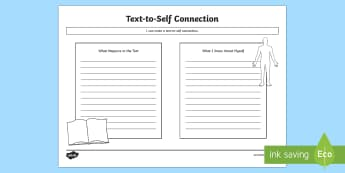 CfE Text to Self Connections Activity Sheet - CfE Literacy, reading comprehension strategies, analysing, understanding, evaluating, curriculum for