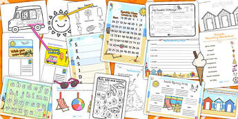 Seaside Activity Pack - activities, classroom activities, games