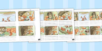 The Tale of Squirrel Nutkin Storyboard Template - squirrel nutkin