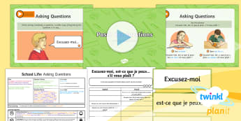 PlanIt - French Year 5 - School Life Lesson 5: Asking Questions Lesson Pack - french, languages, grammar, questions, verbs, school, subjects, lessons, questions, school life, pla