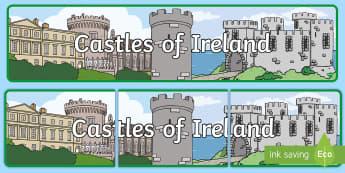 Castles of Ireland Banner - ROI - The World Around UsWAU, Irish, irish history