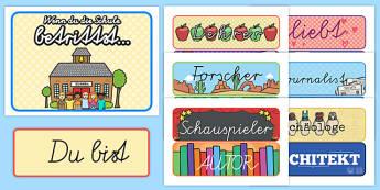 Wenn du die Schule betrittst: Karten für die Klassenraumgestaltung