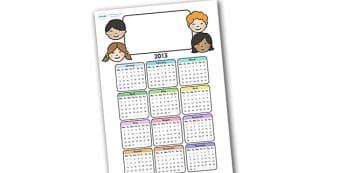 Editable 2013 Calendar Ourselves - calendar, editable calendar, months of the year, display calendar, ourselves, us, ourselves calendar, display, display poster, poster, the year, 2013, 2013 calendar
