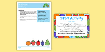 Yum Yum STEM Activity and Prompt Card Pack to Support Teaching on The Very Hungry Caterpillar - Butterfly, life cycle, minibeasts, creepy crawlies, bugs, EYFS, science, technology, mathematics, engineering