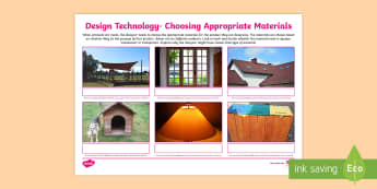 Design Technology Choosing Appropriate Materials Activity-Australia - shadows, light, transparent, opaque, translucent, light, light materials, choosing materials, design