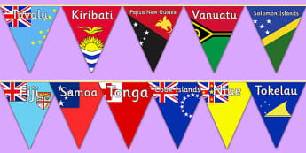 The Pacific Islands Flags Display Bunting
