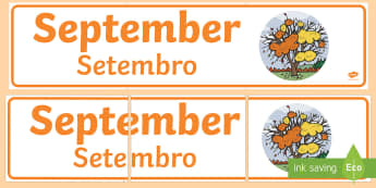 September Display Banner English/Portuguese - September Display Banner - september, display banner, display, banner, months, year, abnner, eal