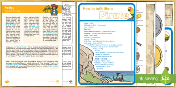 Pirates Topic Hook Wow Ideas and Resource Pack - wow lesson, topic hook, pirates, ships, boats, summer, treasure, sea, treasure hunt, scavenger hunt,