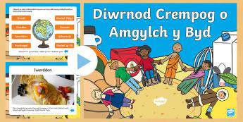 Diwrnod Crempog o Amgylch y Byd Pŵerbwynt - diwrnod, crempog, Mawrth, ynyd, Cristnogaeth, grawys,Welsh