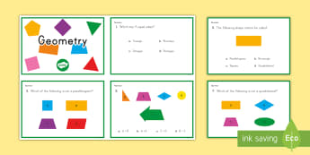 3rd Grade Geometry Online Assement Practice Activity - Common core, math, geometry, assessment, 3rd Grade Geometry