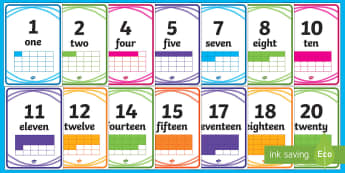 Crayon Theme Display Numbers - New Zealand, Back to School, crayon theme,numbers 1 - 20, maths, Year 1, back to school, beginning o