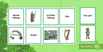 St. Patrick's Day/Lá le Pádraig Matching Cards Gaeilge - la feile padraig, Lá féile Pádraig, La Fheile Phadraig, lá le Phádraig, St. Patrick, St. Patrick's Day, Games, Matching Games.,Irish