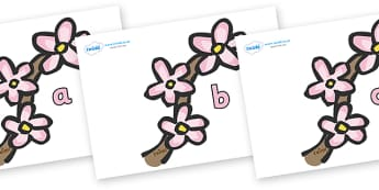 Phase 2 Phonemes on Spring Blossom - Phonemes, phoneme, Phase 2, Phase two, Foundation, Literacy, Letters and Sounds, DfES, display
