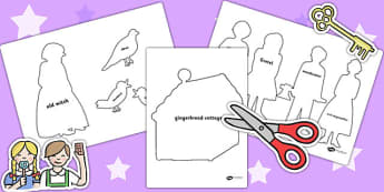 Hansel and Gretel Shadow Puppets - puppets, role play, stories