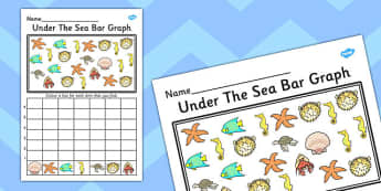 Under the Sea Bar Graph Activity Worksheet - bar graph, activity