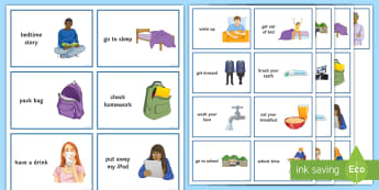 Daily Routine Visual Aid - Secondary, sen, help, home, guide, cards, entry, level