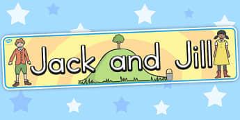Jack and Jill Display Banner - australia, jack, jill, display