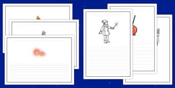 Bonfire Night Writing Frames - bonfire night, writing frames, writing aid, writing guide, writing help, themed writing frames, line guides, lined pages