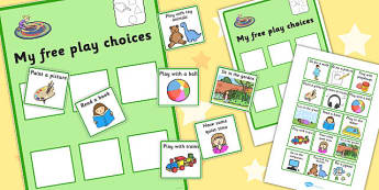 My Free Play Choices - free play, choices, cards, options, decide
