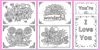 Words of Encouragement Mindfulness Colouring Sheets - words of encouragement, mindfulness, colouring, colour