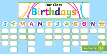 Crayon Theme Birthday Display Cut-Outs - New Zealand Back to School, crayon theme, contemporary theme, trendy theme, birthday display, cl