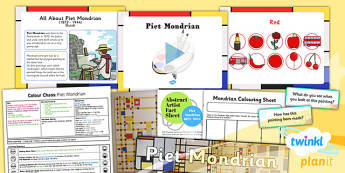 PlanIt - Art KS1 - Colour Chaos Lesson 1: Mondrian Lesson Pack