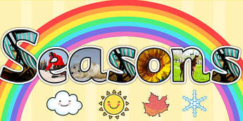 Seasons Photo Display Lettering - seasons, photo, display, letter