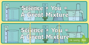 Science and You Display Banner - combining materials, ACSSU031, composite, mixing,