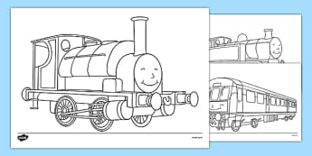 Talking Steam Train Themed Colouring Sheets - thomas the tank engine, talking steam train, colouring sheet
