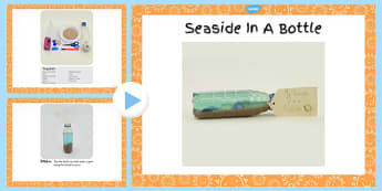 Seaside in a Bottle Craft Instructions PowerPoint - craft, sea