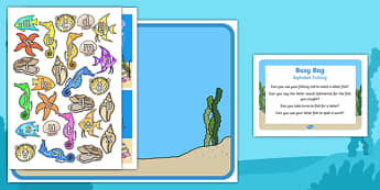 Alphabet Fishing Busy Bag Prompt Card and Resource Pack