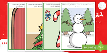 Tapiz de plastilina: La Navidad  - creativo, crear, moldear, navidad, navideño, motricidad fina, Spanish