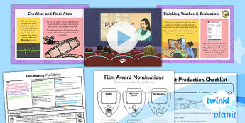PlanIt - Computing Year 6 - Film-Making Lesson 6: Publishing Lesson Pack - movies, documentary, filming, video, camera, movie maker, digital devices