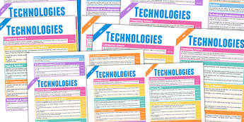 Scottish Curriculum For Excellence Technologies Overview Posters