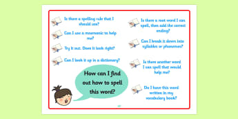 Spelling Strategies Poster (Large) - spelling, spelling strategies, spelling strategies poster, how to spell a word, spelling poster, ks2 literacy, ks2