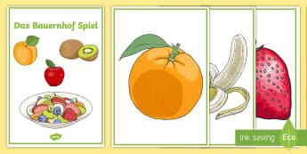 Fruit Salad Game German - Game, German, Fruit, Obst, MFL Games, Languages, Vocabulary, Deutsch