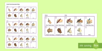 Pencil Grip Assessment Tracker - Back to School Australia, fine motor skills, FMS, pencil grasp, pencil grip, Australia